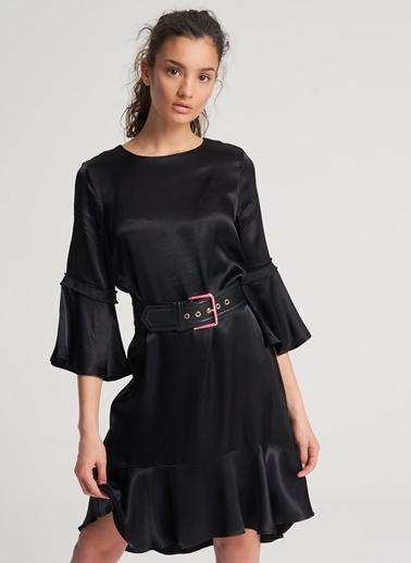 Pi π Aplike Detaylı Elbise Siyah